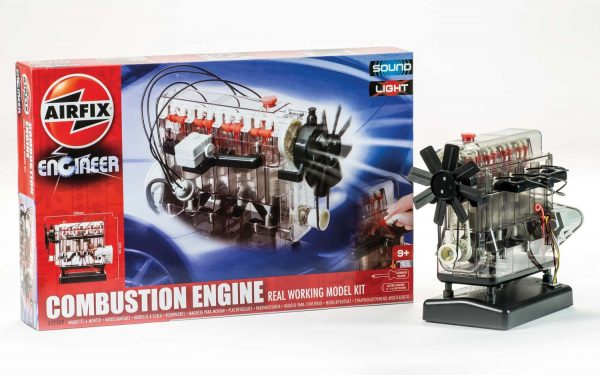 Box and model Airfix Engineer Combustion Engine Working Model Kit A42509