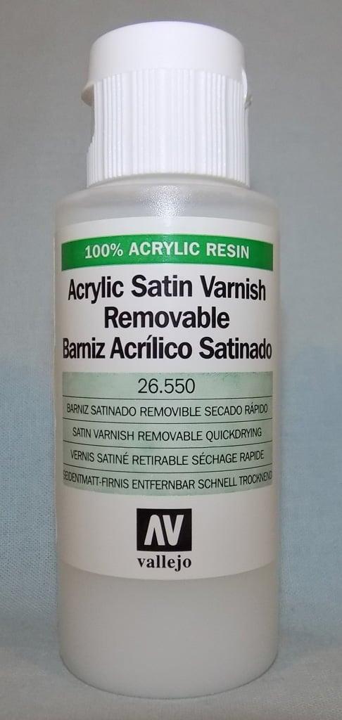 Vallejo Acrylic Satin Varnish Removable 60ml 26550