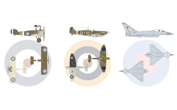 Airfix RAF Centenary Gift Set 1:72 A50181