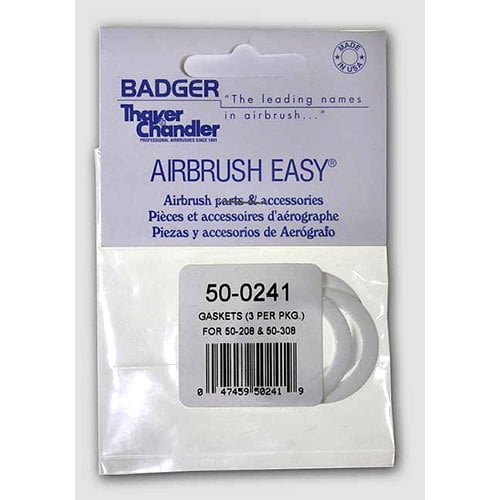 Badger Air-Brush Set of 3 Gaskets for 50-208 and 50-308 Jar Adapter 50-0241