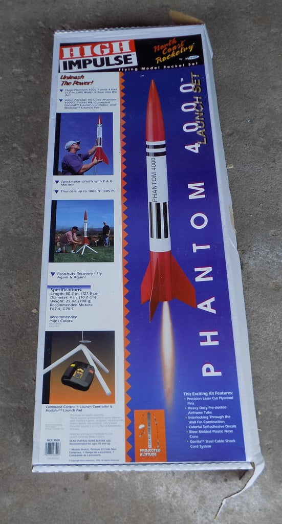 Lot 3 Estes Noreth Coast Rocketry kit Phantom 4000 Launch Set