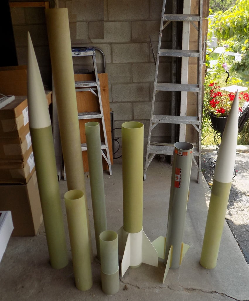 Lot 4 Assorted Fiberglass and Phenolic tubes