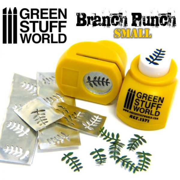 Miniature Leaf Punch YELLOW by Green Stuff World 1371