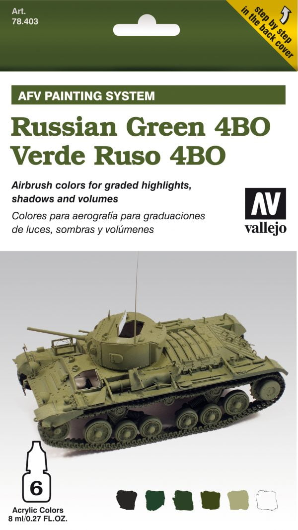 Vallejo AFV Armour Set Russian Green 4BO 78403Vallejo AFV Armour Set Russian Green 4BO 78403
