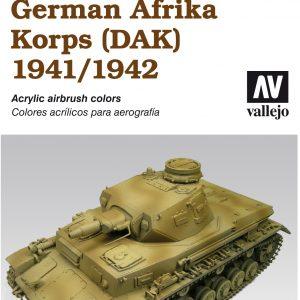 Vallejo AFV Camouflage Colors German Afrika Korps DAK 1941 1942 Set 78409