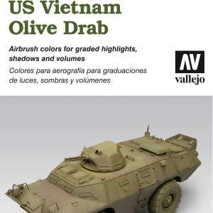 Vallejo AFV Painting System US Vietnam Olive Drab Set 78412
