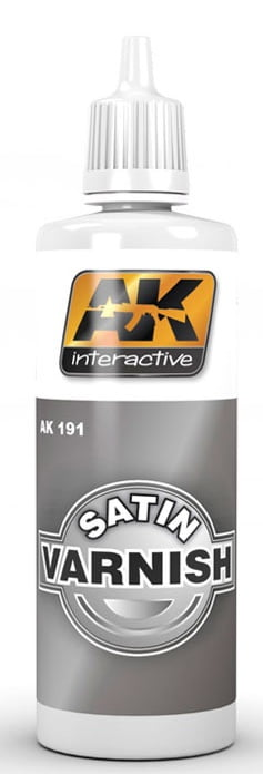 AK Interactive Acrylic SATIN VARNISH 60ml AKI 191