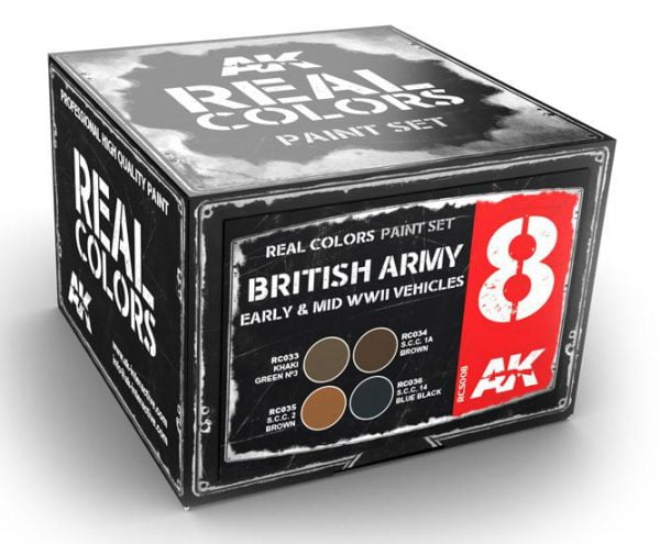 AK Interactive British Army Early and Mid WWII Vehicles Colors Set RCS008