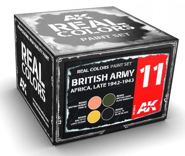 AK Interactive British Army Africa Late 1942-1943 Colors Set RCS011