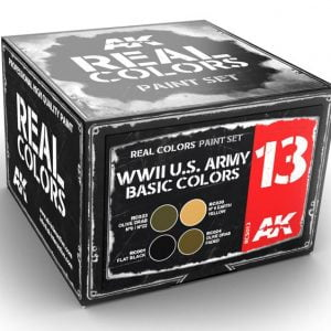 AK Interactive WWII US Army Basic Colors Set RCS013
