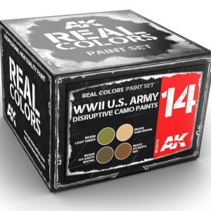 AK Interactive WWII US Army Disruptive Camo Colors Set RCS014