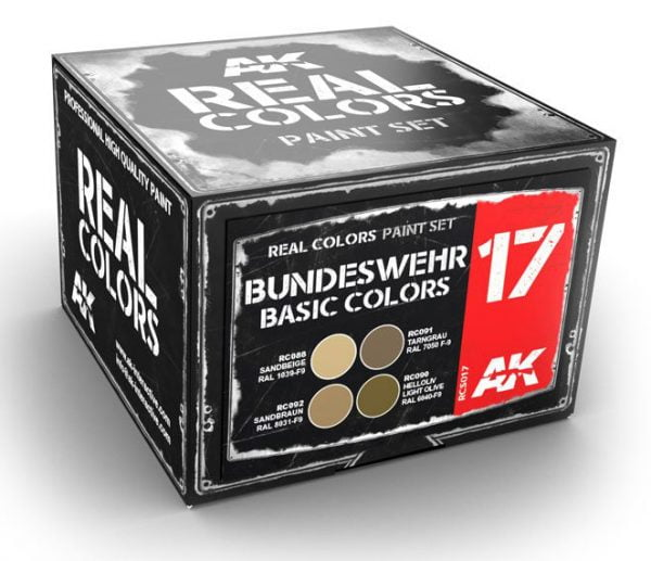 AK Interactive Bundeswehr Basic Desert Colors Set RCS017