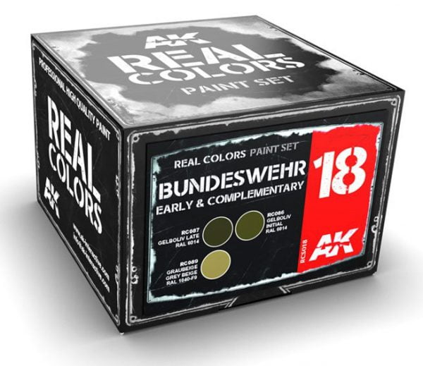 AK Interactive Bundeswehr Early and Complementary Colors Set RCS018