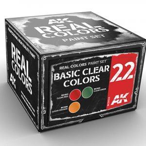 AK Interactive BASIC CLEAR Colors Set RCS022
