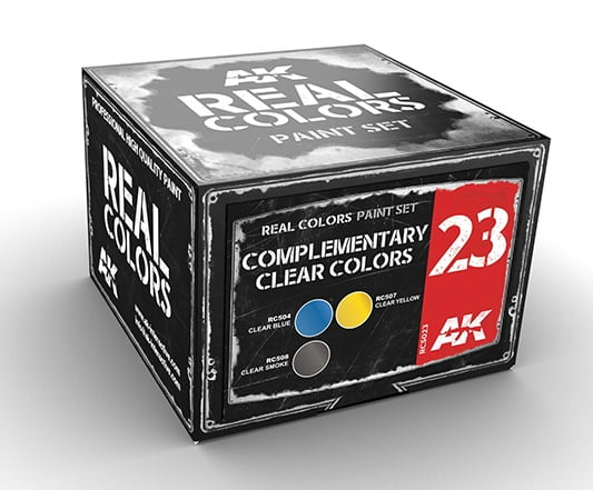 AK Interactive COMPLEMENTARY BASIC CLEAR Colors Set RCS023