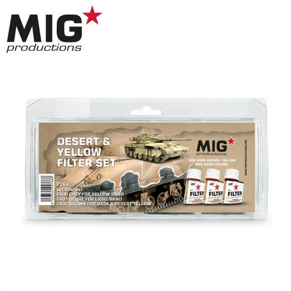 MIG Productions Desert & Yellow filter Set MIG P264