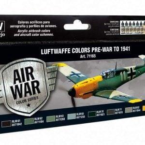 Vallejo Model Air Paint Set Luftwaffe Colours Pre-war to 1941 71165