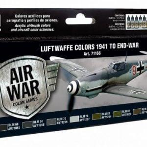 Vallejo Model Air Paint Set Luftwaffe Colours 1941 to End-War 71166