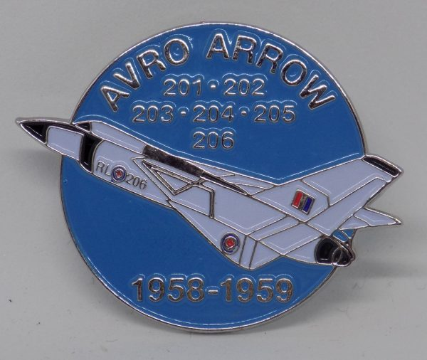 Avro Arrow RL-206 60th Anniversary Lapel Pin