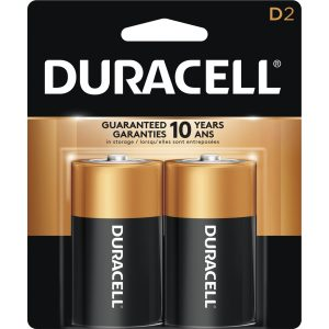 Duracell Coppertop D Batteries 2 Pack
