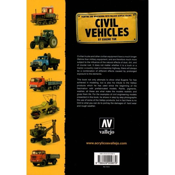 Vallejo Civil Vehicles by Eugene Tur 75012 back