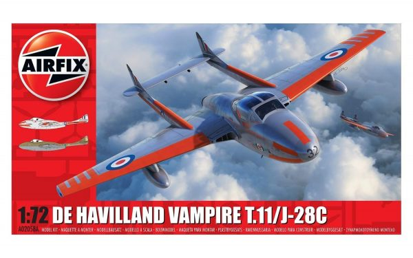 Airfix deHavilland Vampire T.11 J-28C 1:72 A02058A