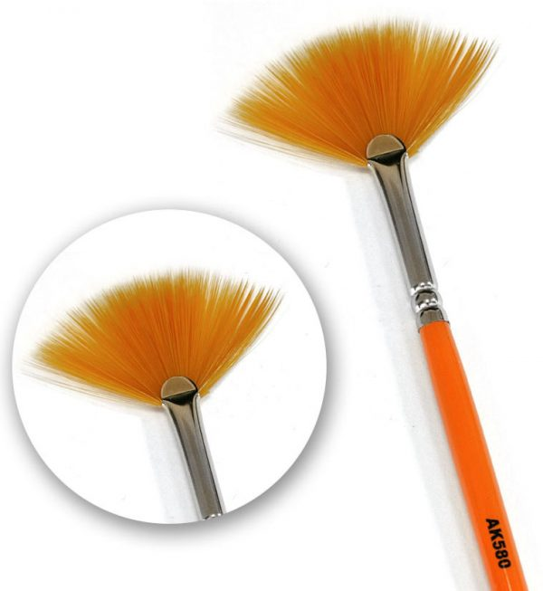 AK Interactive Weathering Brush Fan Shape AKI 580