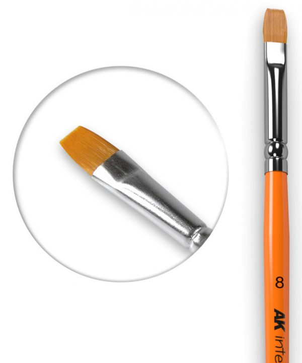 AK Interactive Flat Brush 8 Synthetic AKI 608