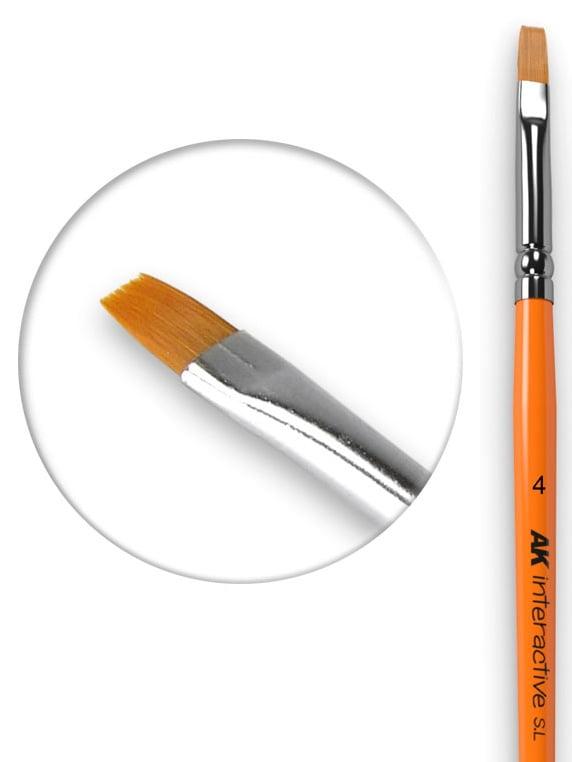 AK Interactive Flat Brush 4 Synthetic AKI 610