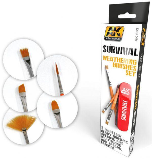 AK Interactive Survival Weathering Brush Set AKi 663