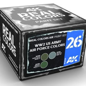 AK Interactive WW2 US ARMY AIR FORCE COLORS Paint Set RCS026