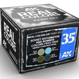 AK Interactive Soviet Shturmovik and Bomber Colors 1943-1945 mixed construction Paint Set RCS035
