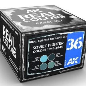 AK Interactive Soviet Fighter Colors 1943-1945 Paint Set RCS036