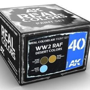 AK Interactive WW2 RAF Desert Colors Paint Set RCS040