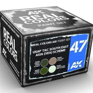 AK Interactive USAF TAC South East Asia SEA Scheme Paint Set RCS047