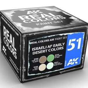 AK Interactive Israeli AF Early Desert Colors Paint Set RCS051