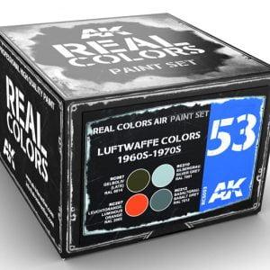 AK Interactive Luftwaffe Colors 1960s-1970s Paint Set RCS053