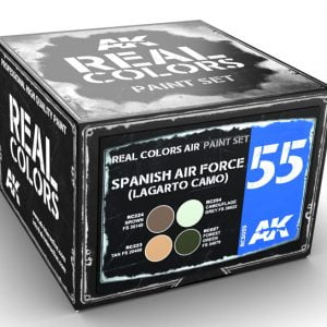 AK Interactive FAE Lagarto Camo Air Force Paint Set RCS055