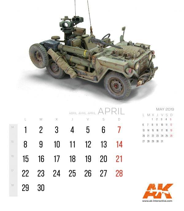 AK Interactive Desk Top Calendar 2019 CLD19