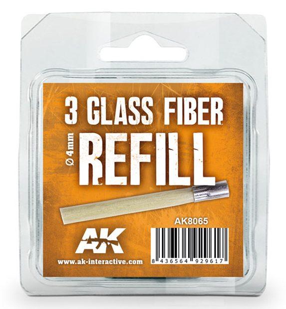 AK Interactive 3 Pack Glass Fibre Refill AKI 8065