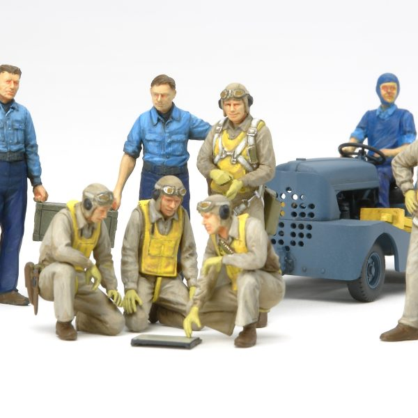 Tamiya Wwii Us Navy Pilots With Moto Tug 61107