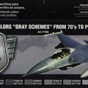 Vallejo USAF Colors Gray Schemes From 70s to Present Set of 8 Paints VAL 71156