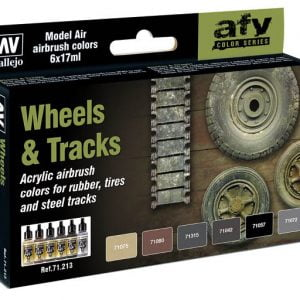 Vallejo AFV Color Series Wheels and Trucks Set of 6 Paints VAL 71213