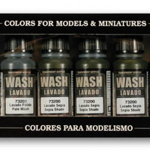 Vallejo Wash Set of 8 Paints VAL 73998