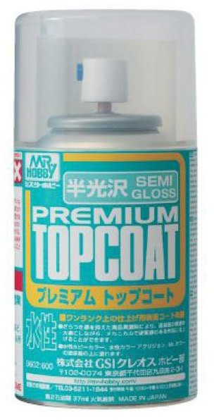 Mr Premiun Top Coat Semi-Gloss Spray B602