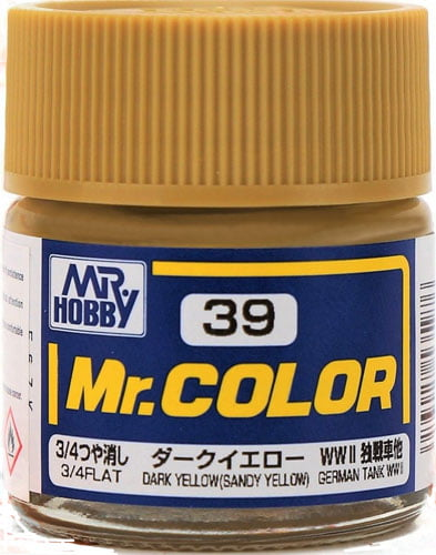 C39 Dark Yellow Sandy Yellow Flat Mr Color Paint Tank Line Paint