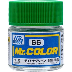 C66 Bright Green Gloss Mr Color Paint car Line Paint