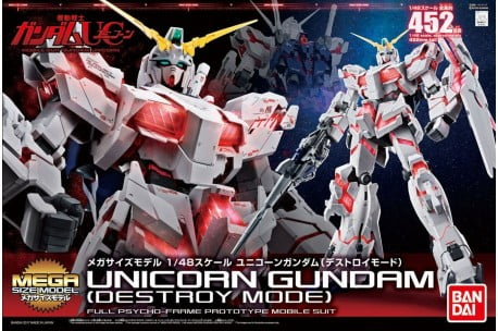 Bandai Unicorn Destroy Mode Mega Size Gundam 216742