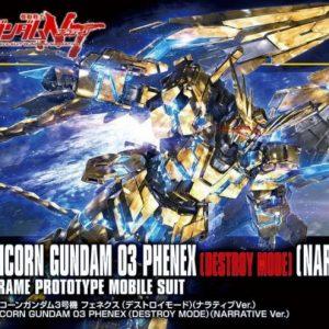 Bandai Unicorn Gundam 03 Phenex Destroy Mode Narrative