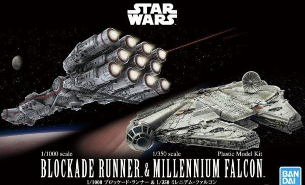 Bandai Blockade Runner and Millennium Falcon Star Wars 5055363